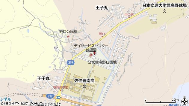 大分県佐伯市鶴望9555周辺の地図