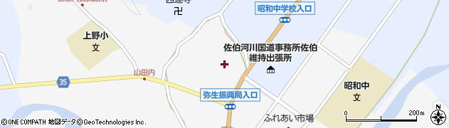 大分県佐伯市弥生大字上小倉1131周辺の地図
