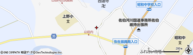 大分県佐伯市弥生大字上小倉566周辺の地図