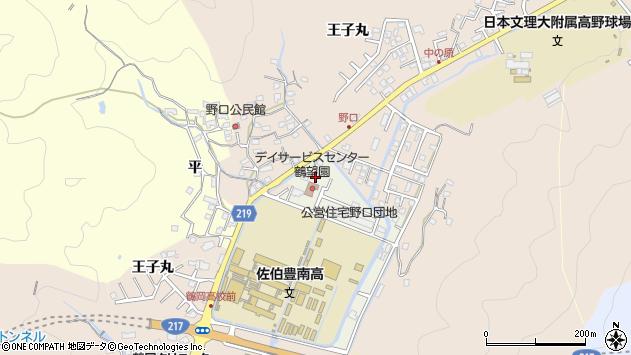 大分県佐伯市鶴望3622周辺の地図