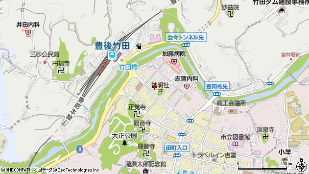 大分県竹田市竹田町552周辺の地図