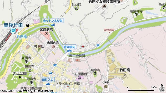 大分県竹田市会々2184周辺の地図