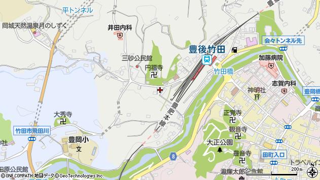 大分県竹田市会々2384周辺の地図