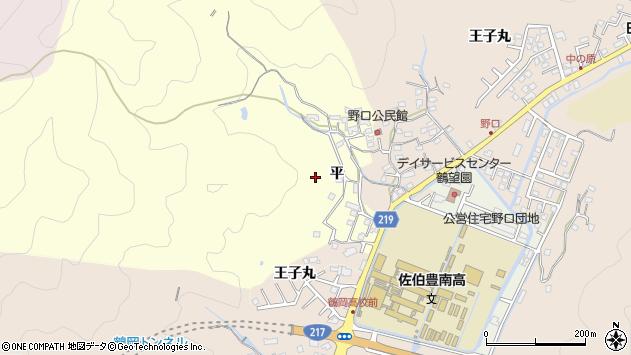 大分県佐伯市鶴望平区周辺の地図