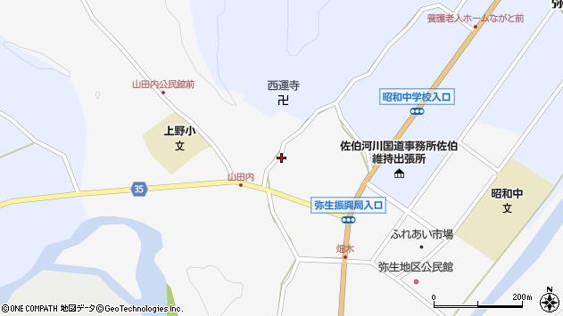 大分県佐伯市弥生大字上小倉613周辺の地図