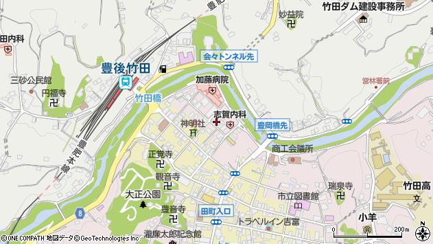 大分県竹田市竹田1864周辺の地図