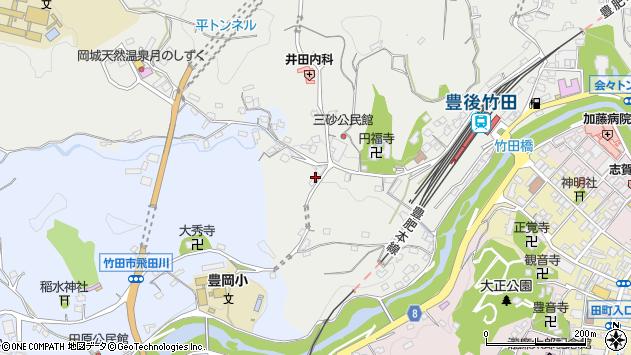 大分県竹田市会々2527周辺の地図