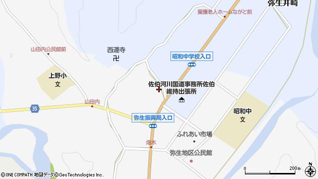 大分県佐伯市弥生大字上小倉1135周辺の地図