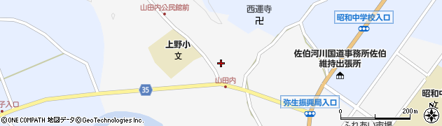 大分県佐伯市弥生大字上小倉427周辺の地図