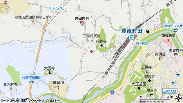 大分県竹田市会々2525周辺の地図