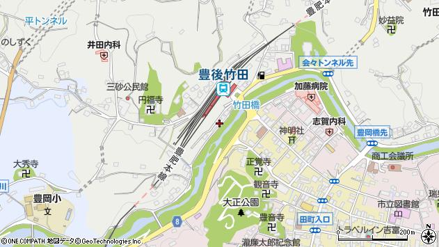 大分県竹田市会々2377周辺の地図