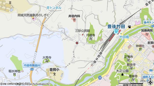 大分県竹田市会々2524周辺の地図