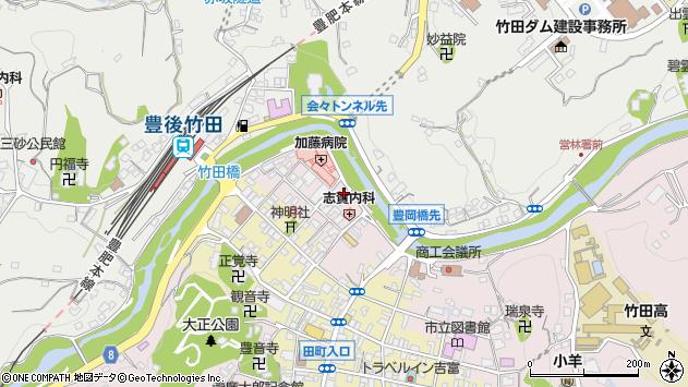 大分県竹田市竹田1861周辺の地図