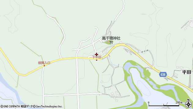 大分県竹田市平田681周辺の地図