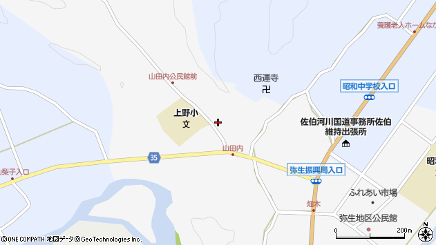 大分県佐伯市弥生大字上小倉429周辺の地図