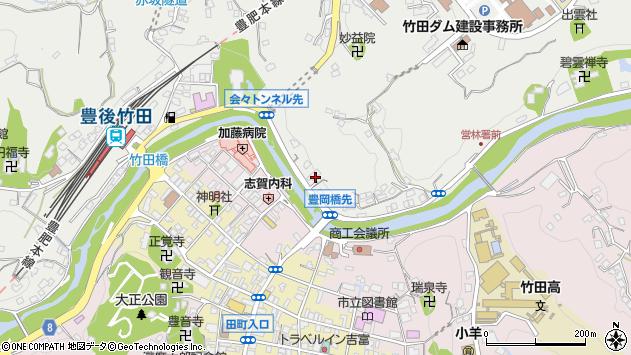 大分県竹田市会々2228周辺の地図