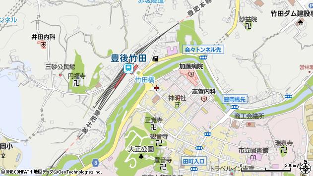 大分県竹田市竹田町563周辺の地図