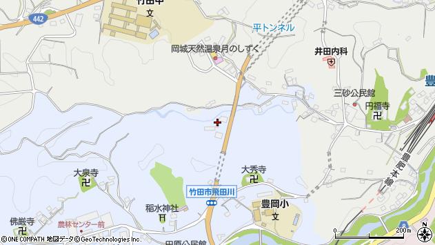 大分県竹田市飛田川3397周辺の地図