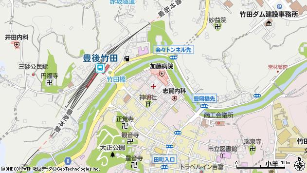 大分県竹田市竹田1868周辺の地図