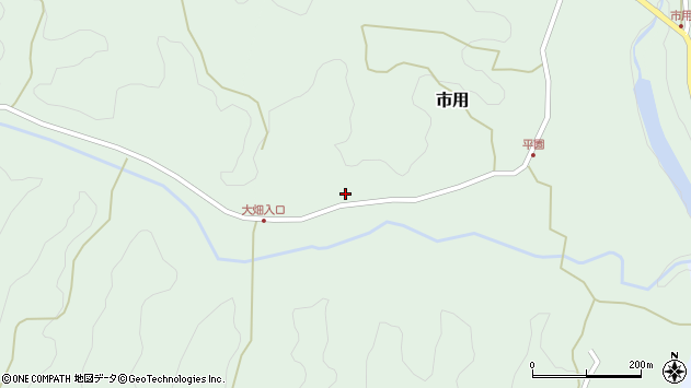 大分県竹田市市用393周辺の地図