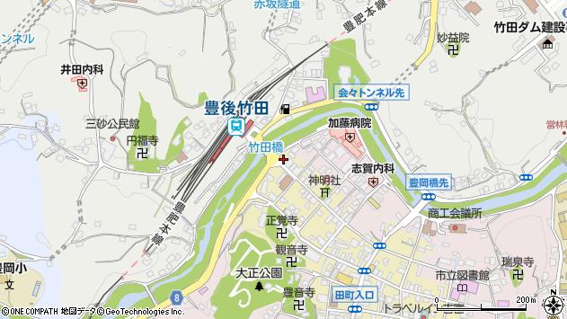 大分県竹田市竹田町564周辺の地図