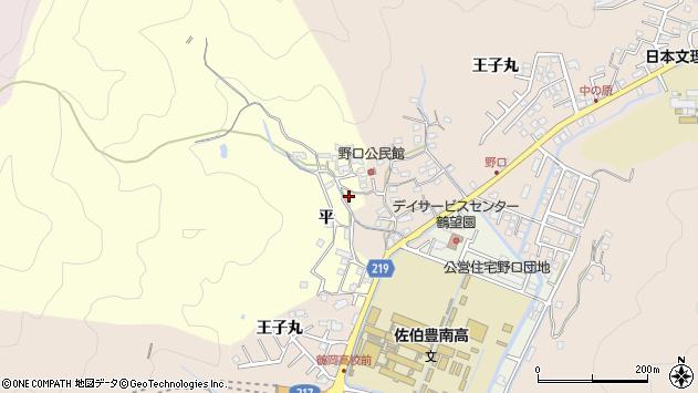 大分県佐伯市鶴望3145周辺の地図