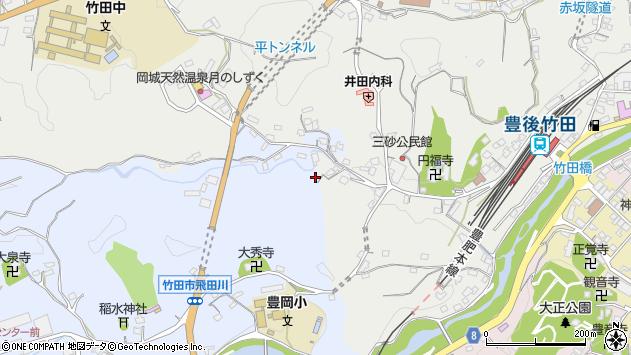 大分県竹田市飛田川2509周辺の地図