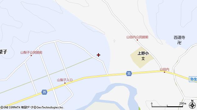 大分県佐伯市弥生大字山梨子1841周辺の地図