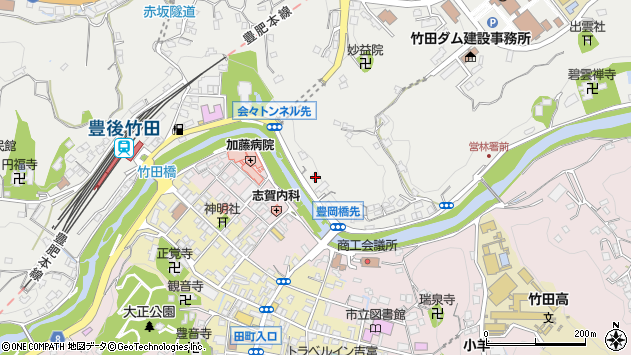 大分県竹田市会々2233周辺の地図