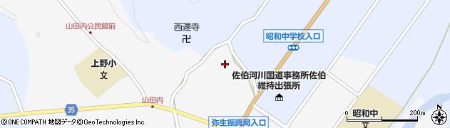 大分県佐伯市弥生大字上小倉589周辺の地図