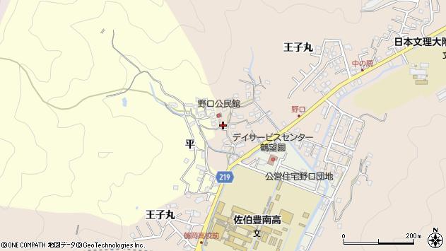 大分県佐伯市鶴望3212周辺の地図