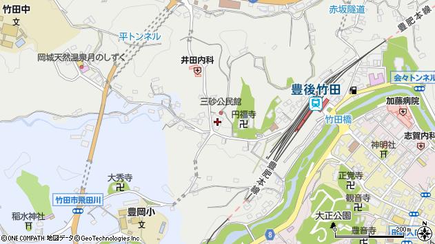 大分県竹田市会々2576周辺の地図