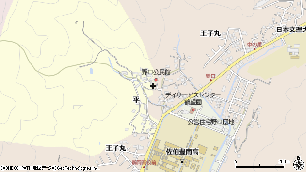 大分県佐伯市鶴望3143周辺の地図