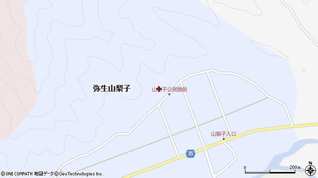 大分県佐伯市弥生大字山梨子1571周辺の地図