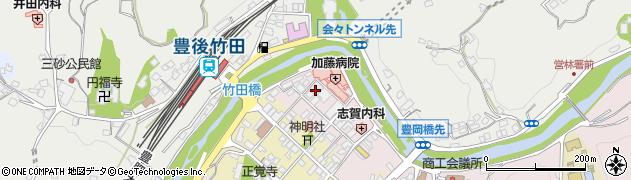大分県竹田市竹田浦町周辺の地図