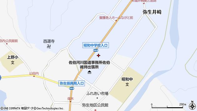 大分県佐伯市弥生大字井崎1253周辺の地図