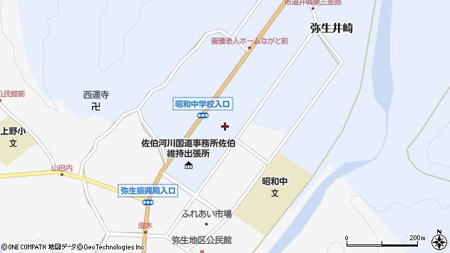 大分県佐伯市弥生大字井崎1229周辺の地図
