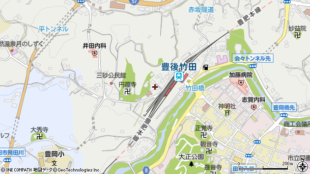 大分県竹田市会々2363周辺の地図