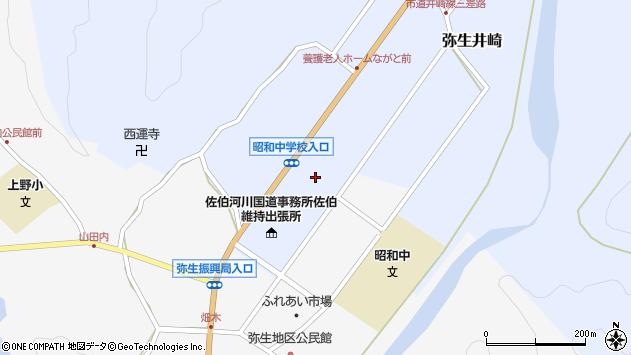 大分県佐伯市弥生大字井崎1254周辺の地図