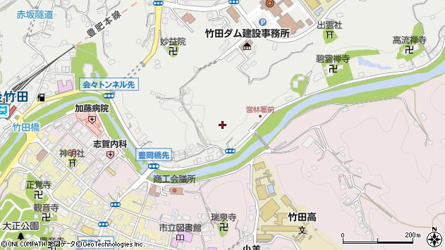 大分県竹田市会々川向周辺の地図