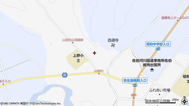 大分県佐伯市弥生大字上小倉432周辺の地図