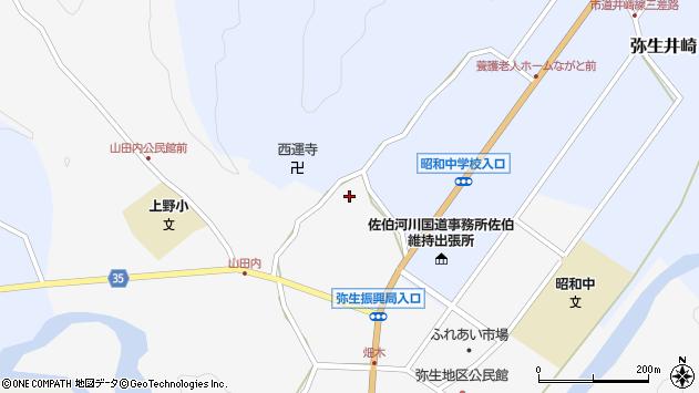 大分県佐伯市弥生大字上小倉592周辺の地図