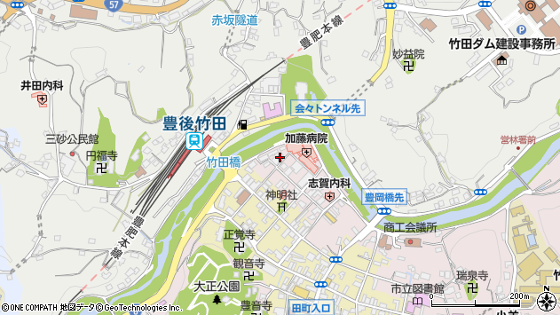 大分県竹田市竹田1822周辺の地図
