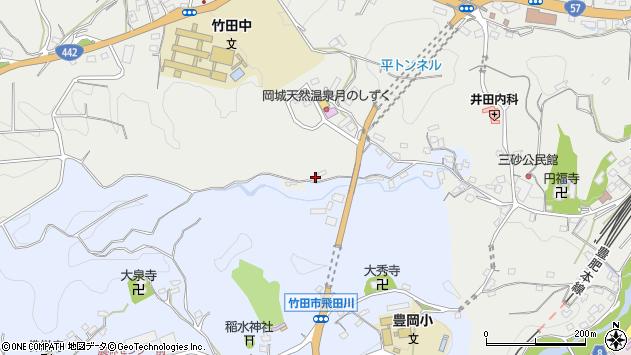 大分県竹田市飛田川3427周辺の地図