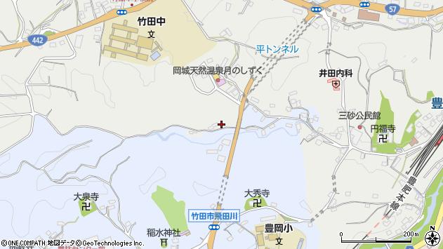 大分県竹田市飛田川3429周辺の地図