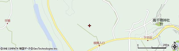 大分県竹田市平田横舞周辺の地図
