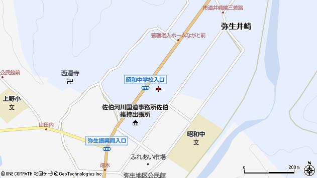 大分県佐伯市弥生大字井崎1255周辺の地図