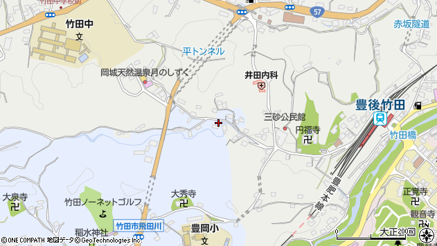 大分県竹田市飛田川3510周辺の地図