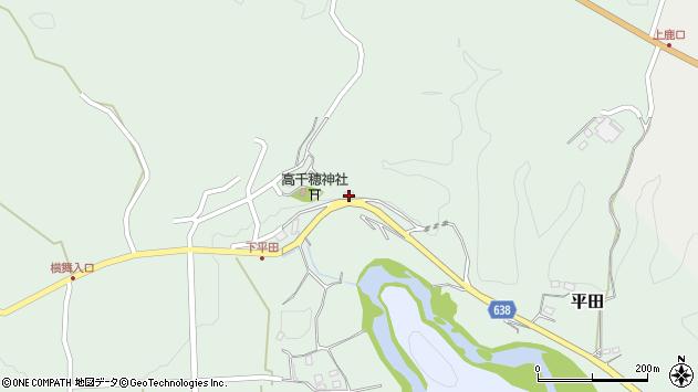 大分県竹田市平田398周辺の地図