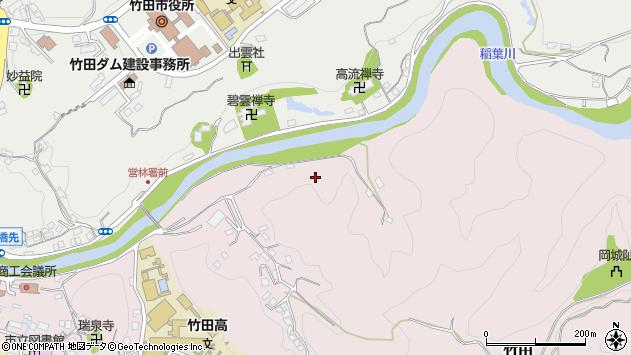 大分県竹田市竹田愛宕谷周辺の地図